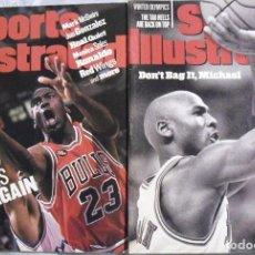 Coleccionismo deportivo: MICHAEL JORDAN & CHICAGO BULLS - DOS REVISTAS ''SPORTS ILLUSTRATED'' DE 1998 - NBA. Lote 76649359