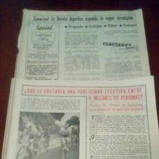 Coleccionismo deportivo: 2 REVISTAS CICLISMO SPRINT AÑOS 60 SIN PORTADA. . Lote 78465889