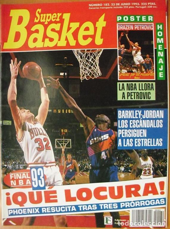 REVISTA ''SUPERBASKET'' - JORDAN & BULLS - MUERTE DE DRAZEN PETROVIC (1993) (Coleccionismo Deportivo - Revistas y Periódicos - otros Deportes)