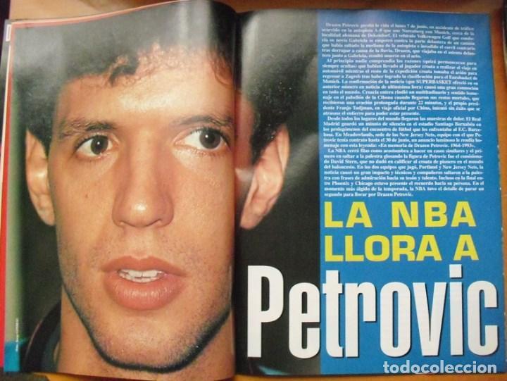 Coleccionismo deportivo: Revista Superbasket - Jordan & Bulls - Muerte de Drazen Petrovic (1993) - Foto 3 - 78479129