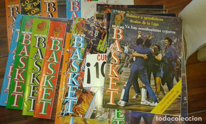 LOTE DE 18 REVISTAS DE BALONCESTO NUEVO BASKET, AÑOS 1982 A 1985. EXCELENTE ESTADO DE CONSERVACIÓN. (Coleccionismo Deportivo - Revistas y Periódicos - otros Deportes)