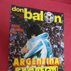 Coleccionismo deportivo: DON BALON. Nº 142. 1978. ADIOS MUNDIAL 78. ARGENTINA CAMPEON.. Lote 79062285
