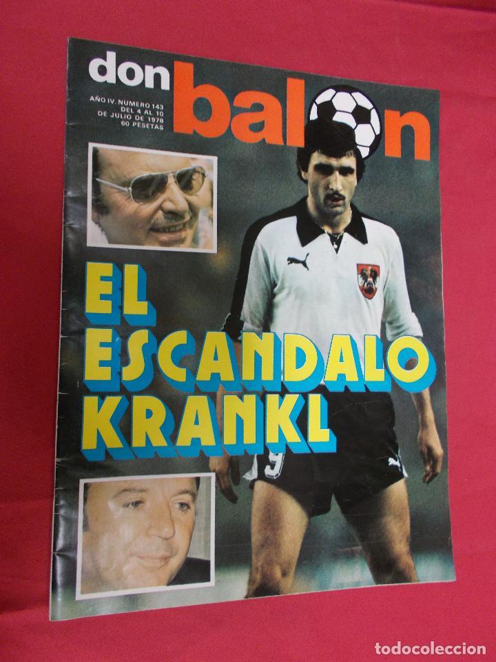 DON BALON. Nº 143. 1978. EL ESCANDALO. KRANKL. (Coleccionismo Deportivo - Revistas y Periódicos - otros Deportes)