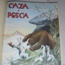 Coleccionismo deportivo: CALENDARIO MENSUAL ILUSTRADO CAZA Y PESCA ARMAS. ENERO - DICIEMBRE 1950 Nº 85 AL 96 . COMPLETO. VER. Lote 79081465
