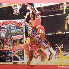 Coleccionismo deportivo: REVISTA GIGANTES DEL BASKET Nº 88 1987 PEGATINAS CROMOS NBA-POSTER GIGANTE MICHAEL AIR JORDAN BULLS. Lote 79905341