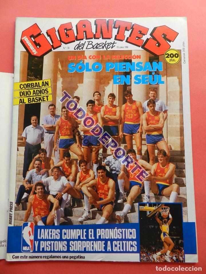 Coleccionismo deportivo: REVISTA GIGANTES DEL BASKET 136 PEGATINA GIGANTE Nº 5 LARRY BIRD CELTICS NBA-STICKER-CROMO-POSTER - Foto 2 - 80067861