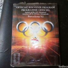 Coleccionismo deportivo: PROGRAMA OFICIAL BARCELONA 92. Lote 118470795