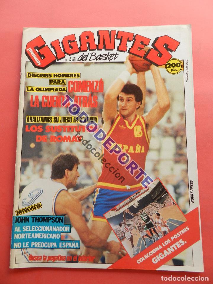 REVISTA GIGANTES DEL BASKET 142 PEGATINA GIGANTE Nº 11 NIKOS GALIS STICKER-CROMO-POSTER PARISH NBA (Coleccionismo Deportivo - Revistas y Periódicos - otros Deportes)
