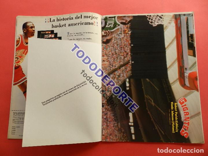 Coleccionismo deportivo: REVISTA GIGANTES DEL BASKET 142 PEGATINA GIGANTE Nº 11 NIKOS GALIS STICKER-CROMO-POSTER PARISH NBA - Foto 3 - 80266117