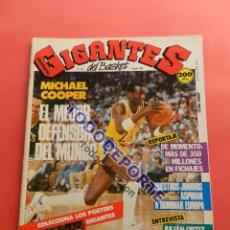 Coleccionismo deportivo: REVISTA GIGANTES DEL BASKET 143 PEGATINA GIGANTE Nº 12 ISIAH THOMAS PISTONS STICKER-CROMO-POSTER NBA. Lote 80266253