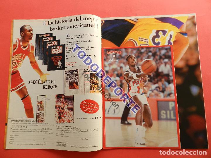 Coleccionismo deportivo: REVISTA GIGANTES DEL BASKET 143 PEGATINA GIGANTE Nº 12 ISIAH THOMAS PISTONS STICKER-CROMO-POSTER NBA - Foto 2 - 80266253