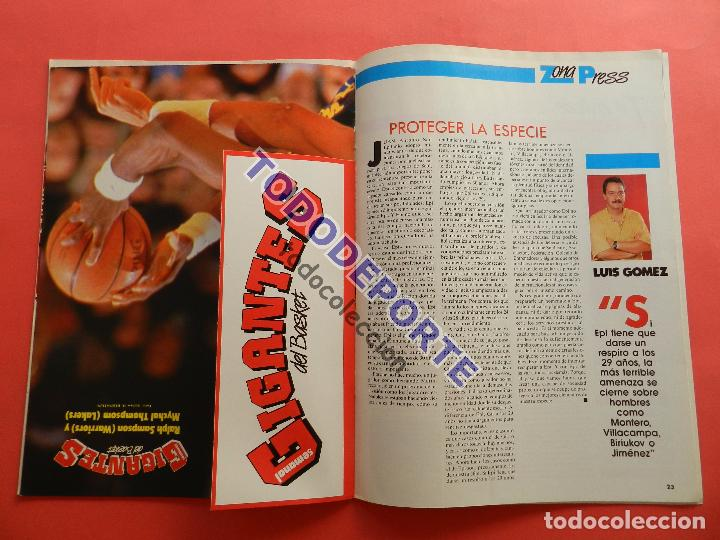 Coleccionismo deportivo: REVISTA GIGANTES DEL BASKET 143 PEGATINA GIGANTE Nº 12 ISIAH THOMAS PISTONS STICKER-CROMO-POSTER NBA - Foto 5 - 80266253