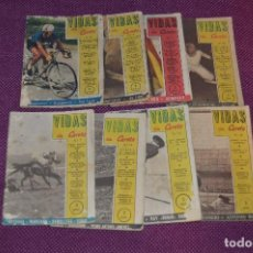 Coleccionismo deportivo: VINTAGE - ANTIGUO LOTE DE 8 REVISTAS DEPORTIVAS - VIDAS SIN CARETA - Nº 1, 4, 5, 7, 10, 12, 18 Y 22 . Lote 81027908
