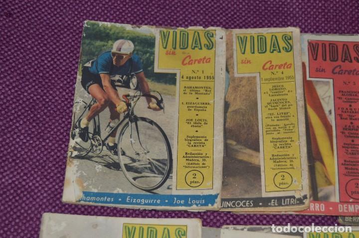 Coleccionismo deportivo: VINTAGE - ANTIGUO LOTE DE 8 REVISTAS DEPORTIVAS - VIDAS SIN CARETA - Nº 1, 4, 5, 7, 10, 12, 18 Y 22 - Foto 2 - 81027908