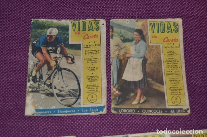 Coleccionismo deportivo: VINTAGE - ANTIGUO LOTE DE 8 REVISTAS DEPORTIVAS - VIDAS SIN CARETA - Nº 1, 4, 5, 7, 10, 12, 18 Y 22 - Foto 3 - 81027908