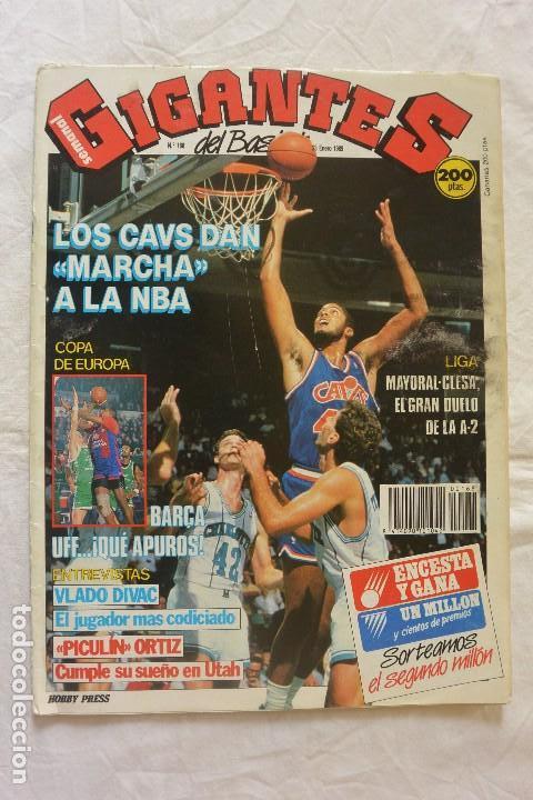 REVISTA GIGANTES DEL BASKET Nº 168 1989 SIN POSTER CENTRAL (Coleccionismo Deportivo - Revistas y Periódicos - otros Deportes)