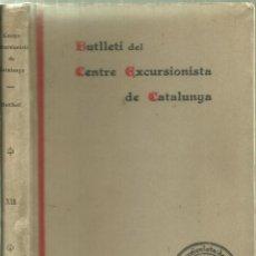 Coleccionismo deportivo: 561.-BUTLLETI DEL CENTRE EXCURSIONISTA DE CATALUNYA-VOLUM DOTZE ANY 1902-DE BERGA A POBLA LILLET. Lote 82321196