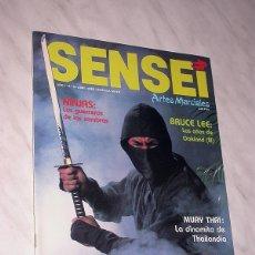 Coleccionismo deportivo: SENSEI Nº 3. REVISTA DE ARTES MARCIALES. ABRIL 1988. HISTORIA DE BRUCE LEE. PÓSTER NINJAS PAUL VUNAK. Lote 84586872