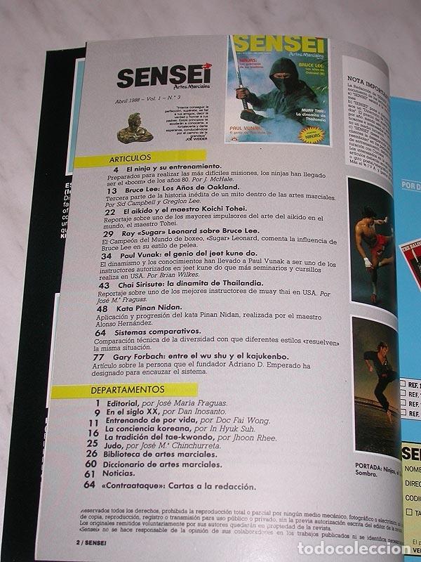 Coleccionismo deportivo: SENSEI Nº 3. REVISTA DE ARTES MARCIALES. ABRIL 1988. HISTORIA DE BRUCE LEE. PÓSTER NINJAS PAUL VUNAK - Foto 2 - 84586872