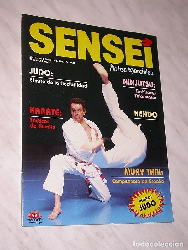 SENSEI Nº 5. REVISTA DE ARTES MARCIALES. JUNIO 1988. ANUNCIO WONG SHUN LEUNG. PÓSTER JUDO. NINJUTSU. (Coleccionismo Deportivo - Revistas y Periódicos - otros Deportes)