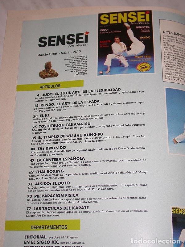 Coleccionismo deportivo: SENSEI Nº 5. REVISTA DE ARTES MARCIALES. JUNIO 1988. ANUNCIO WONG SHUN LEUNG. PÓSTER JUDO. NINJUTSU. - Foto 3 - 84587652