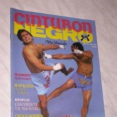 Collectionnisme sportif: CINTURON NEGRO Nº 4, JUNIO 1989. REVISTA DE ARTES MARCIALES. PÓSTER SIRISUTE. CHUCK NORRIS. +++. Lote 161616202
