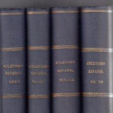 Coleccionismo deportivo: REVISTA. ATLETISMO ESPAÑOL. 4 VOLS. NÚMEROS 101-159. MADRID, 1958-1967.. Lote 85735284