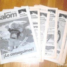 Coleccionismo deportivo: SUPLEMENTO SLALOM IDEAL CAMPEONATOS DEL MUNDO DE ESQUÍ ALPINO SIERRA NEVADA 1996 16 FASCÍCULOS. Lote 87031392