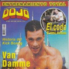 Collezionismo sportivo: REVISTA DOJO Nº 259. VAN DAMME EN SOLDADO UNIVERSAL 2. HISTORIOA DEL KICK BOXING. TAEKWONDO.. Lote 88888612