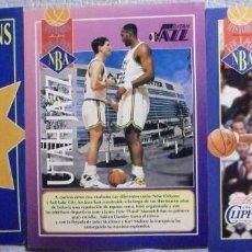 Coleccionismo deportivo: ''REVISTA OFICIAL NBA'' - HISTORIA DE EQUIPOS: PHOENIX SUNS, UTAH JAZZ Y LOS ANGELES CLIPPERS. Lote 89467888