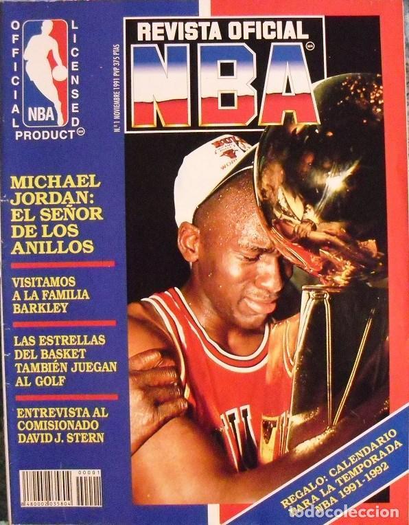 MICHAEL JORDAN & MAGIC JOHNSON - ''REVISTA OFICIAL NBA'' Nº 1 - PRIMER ANILLO (1991) (Coleccionismo Deportivo - Revistas y Periódicos - otros Deportes)