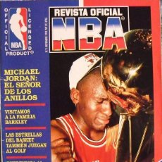 Coleccionismo deportivo: MICHAEL JORDAN & MAGIC JOHNSON - ''REVISTA OFICIAL NBA'' Nº 1 - PRIMER ANILLO (1991). Lote 174346622