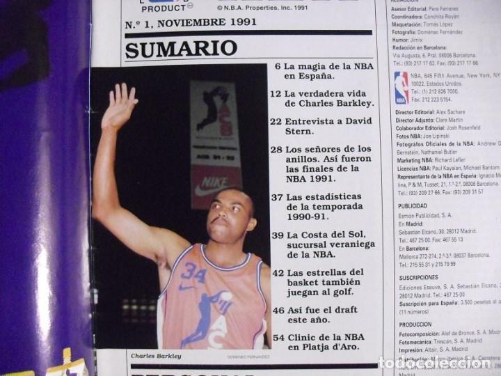 Coleccionismo deportivo: Michael Jordan & Magic Johnson - Revista Oficial NBA nº 1 - Primer anillo (1991) - Foto 2 - 174346622