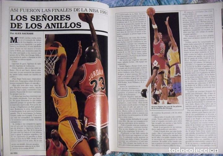 Coleccionismo deportivo: Michael Jordan & Magic Johnson - Revista Oficial NBA nº 1 - Primer anillo (1991) - Foto 5 - 174346622