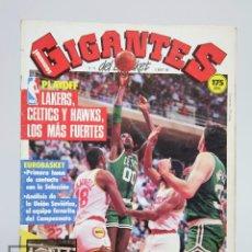 Coleccionismo deportivo: REVISTA DE BALONCESTO CON PÓSTER - GIGANTES DEL BASKET. NBA PLAYOFF - Nº 79, 1987 - HOBBY PRESS. Lote 91086535