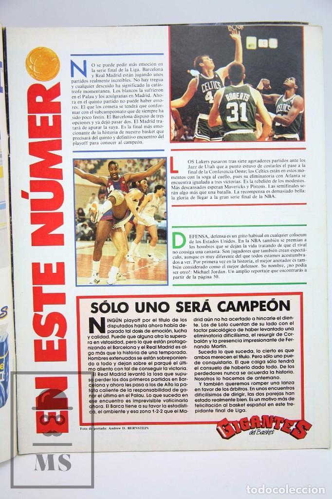 Coleccionismo deportivo: Revista de Baloncesto con Póster - Gigantes del Basket. NBA, Celtics... - Nº 134, 1988 -Hobby Press - Foto 2 - 91238315