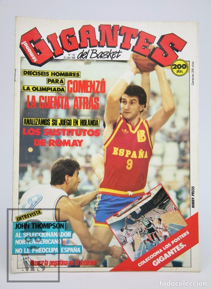 REVISTA DE BALONCESTO SIN PÓSTER - GIGANTES DEL BASKET. FERNANDO ROMAY - Nº 142, 1988 - HOBBY PRESS (Coleccionismo Deportivo - Revistas y Periódicos - otros Deportes)