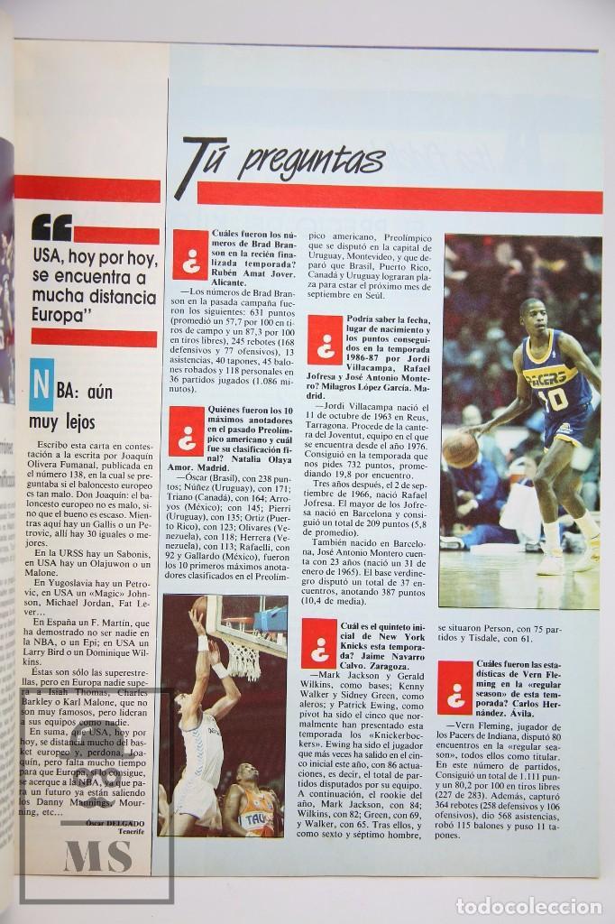 Coleccionismo deportivo: Revista de Baloncesto sin Póster - Gigantes del Basket. Fernando Romay - Nº 142, 1988 - Hobby Press - Foto 4 - 91238540