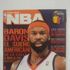 Coleccionismo deportivo: REVISTA NBA OFICIAL. ABRIL 2008. Nº 188. BARON DAVIS EL SUEÑO AMERICANO. BALONCESTO. TDKR38. Lote 91248720