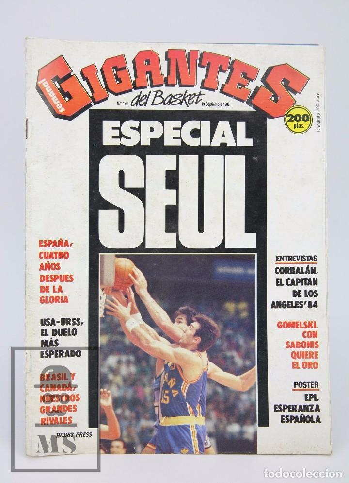 REVISTA DE BALONCESTO CON PÓSTER - GIGANTES DEL BASKET. ESPECIAL SEUL - Nº 150, 1988 - HOBBY PRESS (Coleccionismo Deportivo - Revistas y Periódicos - otros Deportes)