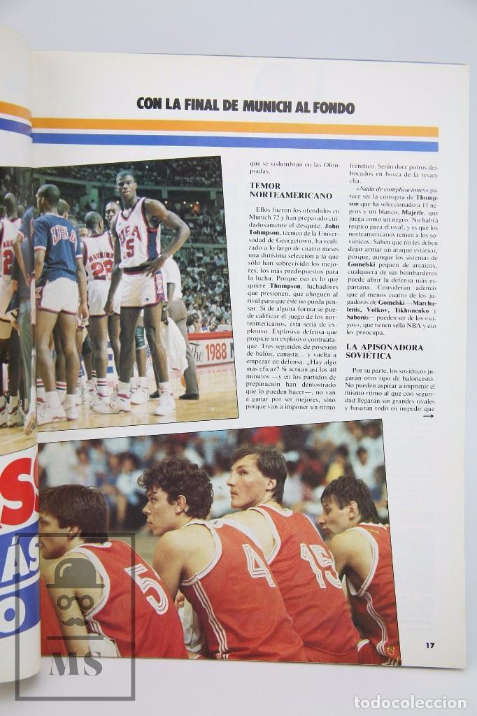 Coleccionismo deportivo: Revista de Baloncesto con Póster - Gigantes del Basket. Especial Seul - Nº 150, 1988 - Hobby Press - Foto 4 - 91250075