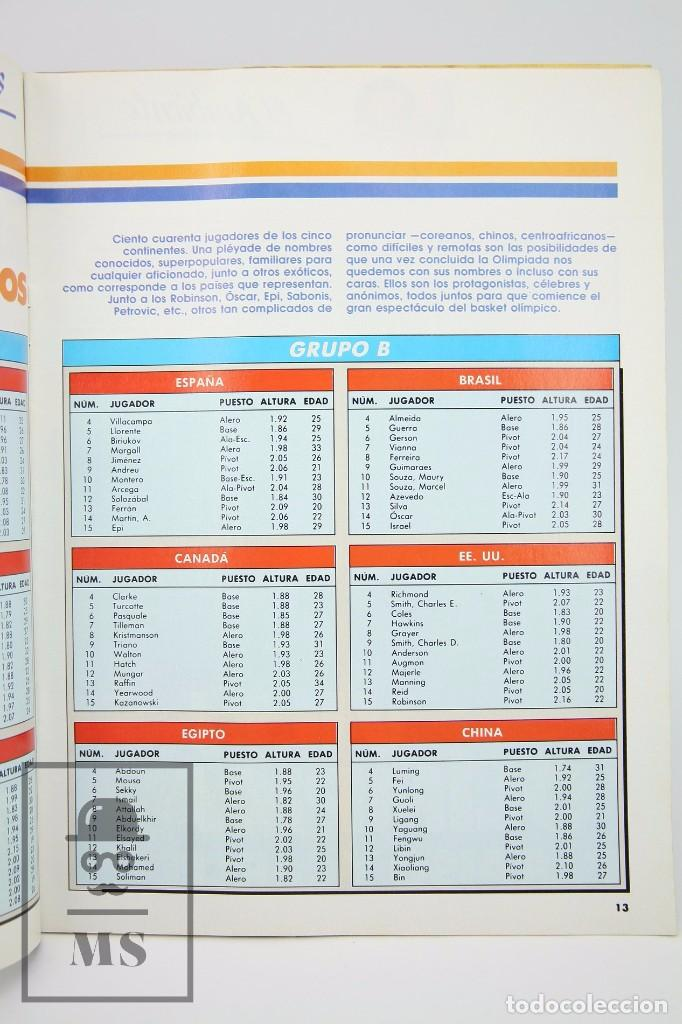 Coleccionismo deportivo: Revista de Baloncesto con Póster - Gigantes del Basket. Olimpiada Seul - Nº 151, 1988 - Hobby Press - Foto 2 - 91250180