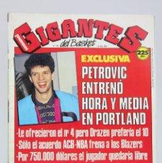 Coleccionismo deportivo: REVISTA BALONCESTO CON PÓSTER - GIGANTES DEL BASKET. PETROVIC - Nº 194, 1989 - HOBBY PRESS. Lote 91251245