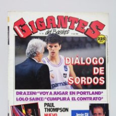 Colecionismo desportivo: REVISTA BALONCESTO CON PÓSTER - GIGANTES DEL BASKET. DRAZEN / LOLO SAINZ- Nº 195, 1989 - HOBBY PRESS. Lote 91251445