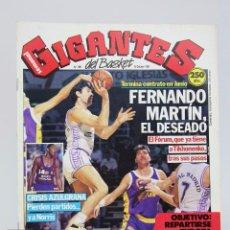 Coleccionismo deportivo: REVISTA BALONCESTO CON PÓSTER - GIGANTES DEL BASKET. FERNANDO MARTÍN - Nº 206, 1989 - HOBBY PRESS. Lote 91254195