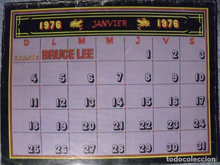Coleccionismo deportivo: Bruce Lee - Calendario de 1976 de la revista francesa Karate - Rareza - Foto 2 - 92863580