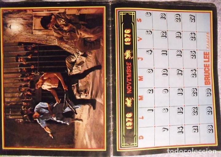 Coleccionismo deportivo: Bruce Lee - Calendario de 1976 de la revista francesa Karate - Rareza - Foto 3 - 92863580