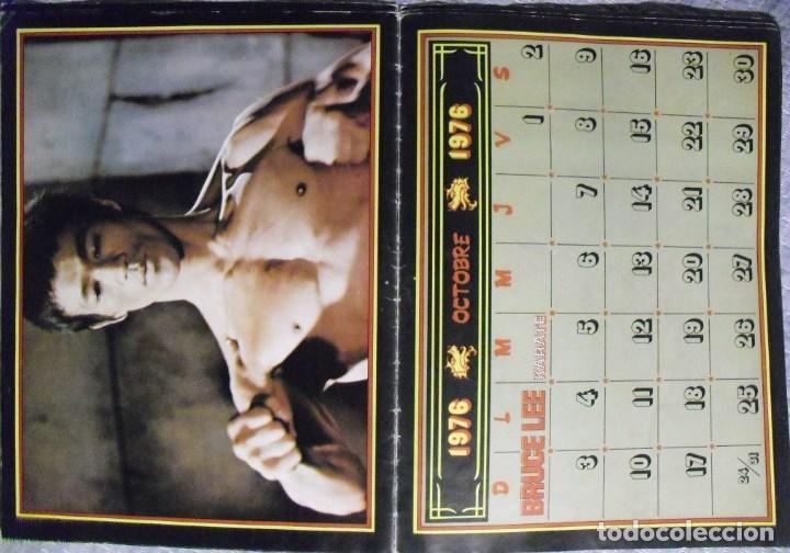 Coleccionismo deportivo: Bruce Lee - Calendario de 1976 de la revista francesa Karate - Rareza - Foto 4 - 92863580