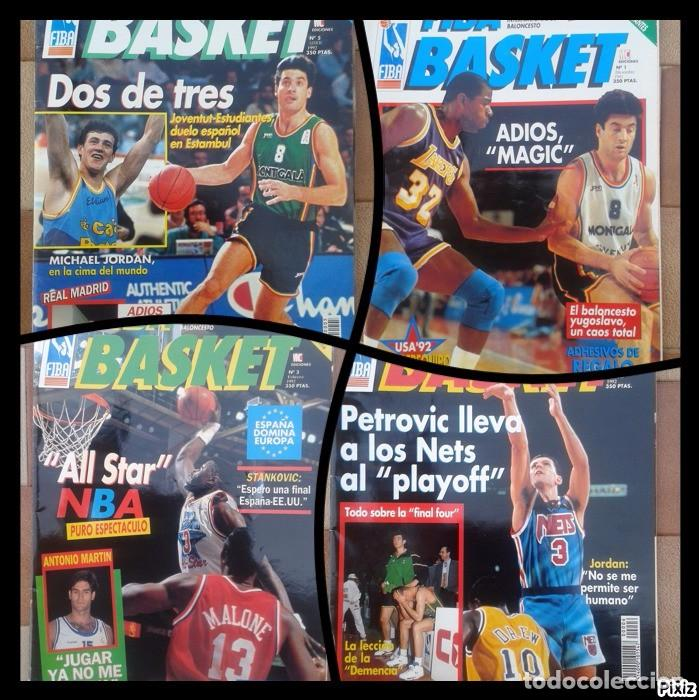 Coleccionismo deportivo: FIBA BASKET: 1, 3, 5, 6. REVISTAS DE BALONCESTO 1991-1992, MAGIC JOHNSON, USA, POSTER ESTUDIANTES... - Foto 1 - 93037605