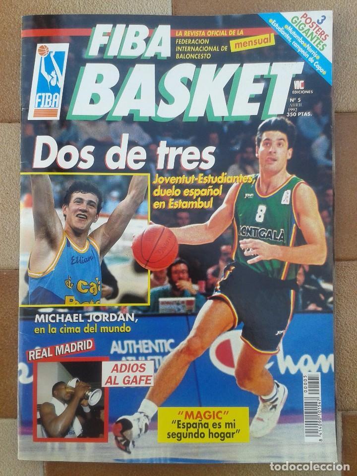 Coleccionismo deportivo: FIBA BASKET: 1, 3, 5, 6. REVISTAS DE BALONCESTO 1991-1992, MAGIC JOHNSON, USA, POSTER ESTUDIANTES... - Foto 2 - 93037605